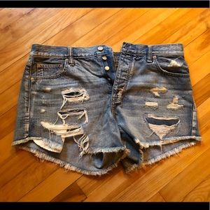 American Eagle High Waisted Destroyed Short